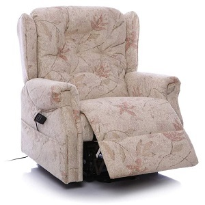 oldbury rise and recline floral chair